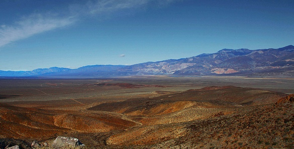 Panamint Valley from Slate Range Crossing, Road to Death Valley National Park, California