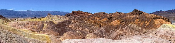 Panorama from Zabriskie Point, Death Valley National Park, California