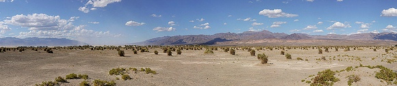 Panorama of Death Valley National Park, California
