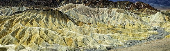 Panorama of Gower Gulch and the Badlands from Zabriskie Point, Death Valley National Park, California