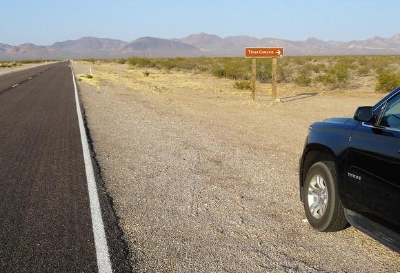 Titus Canyon Roadhead at Daylight Pass Road, near Beatty, Nevada
