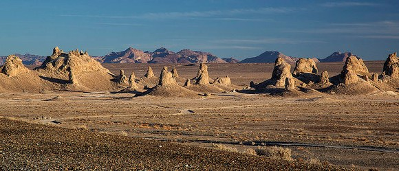 View of Trona Pinnacles, East of Ridgecrest, California