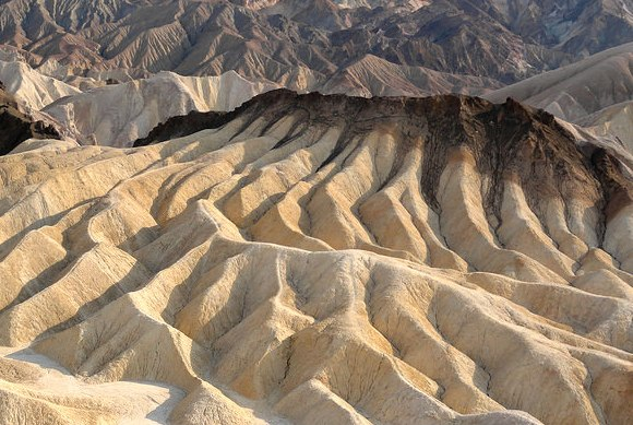 View from Zabriskie Point in late afternoon, Death Valley National Park, California