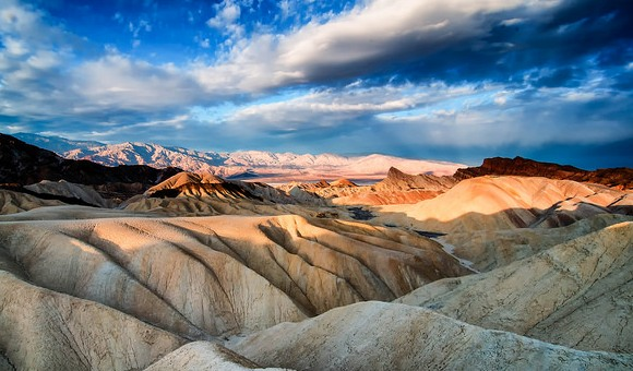 View of the Badlands from Zabriskie Point, Death Valley National Park, California