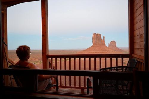 Tramonto dalla nostra Cabin alla Monument Valley