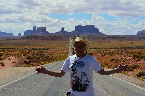 La vista della Monument Valley dalla US 163