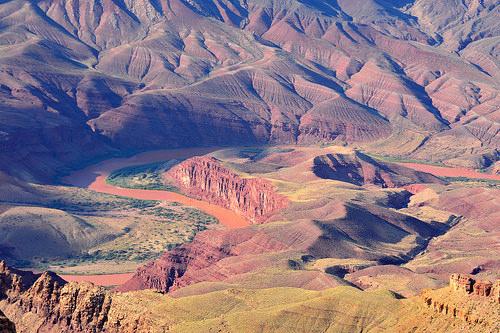 Panorama sul Fiume Colorado dal South Rim del Grand Canyon