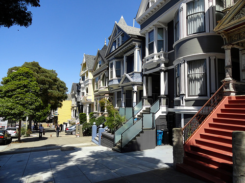 Nice houses in Haight-Ashbury District, San Francisco, California