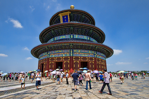 View of Beautiful Temple of Heaven, Beijing, China