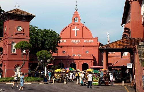 Christ Church, Historical Melaka, Malaysia