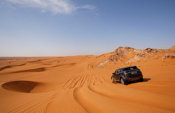 Dune bashing in Dubai Desert, UAE