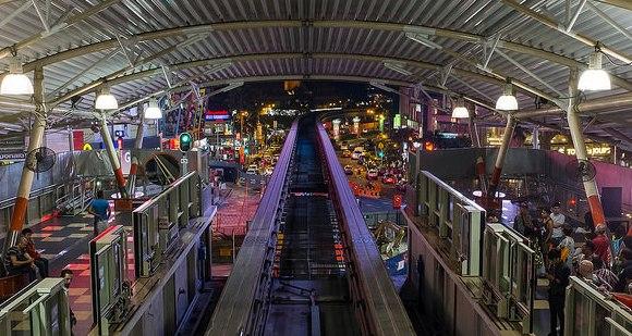 KL Monorail Station in Bukit Bintang, Kuala Lumpur, Malaysia