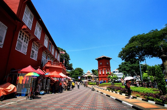 Old Town of Historical Melaka, UNESCO World Heritage Site Malaysia