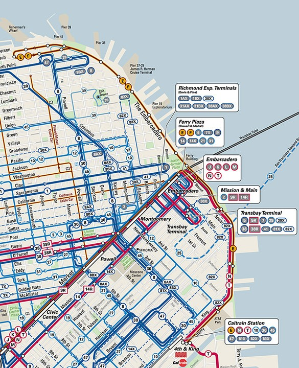 San Francisco Transportation Map
