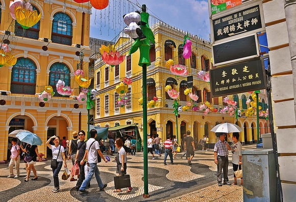 Senado Square, Old Town of Macau, a UNESCO World Heritage Site