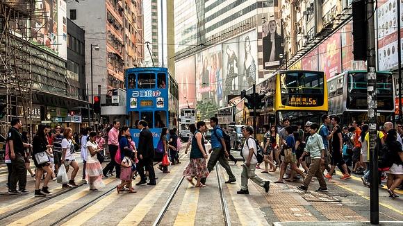 Street in Causeway Bay, Hong Kong Island