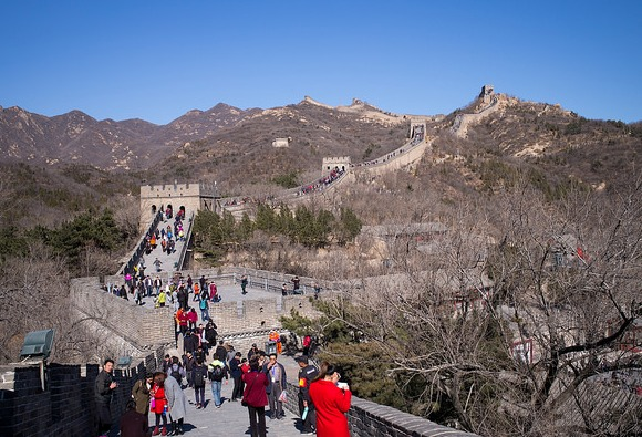 The Great Wall of China at Badaling, North west of Beijing