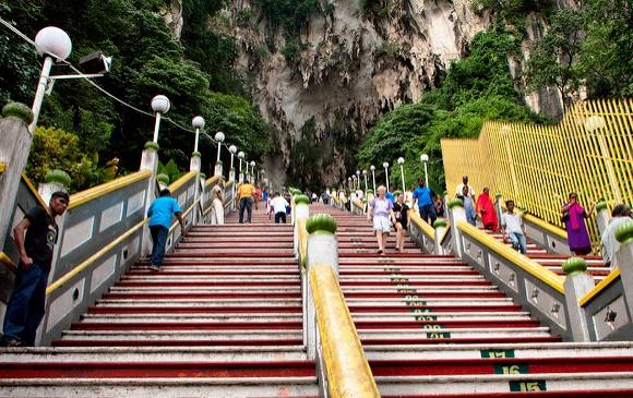 The stairs up to Batu Caves, near Kuala Lumpur, Malaysia