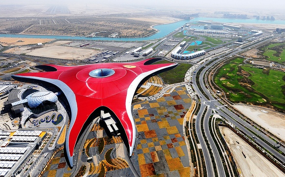 Ferrari World Theme Park on Yas Island in Abu Dhabi, United Arab Emirates