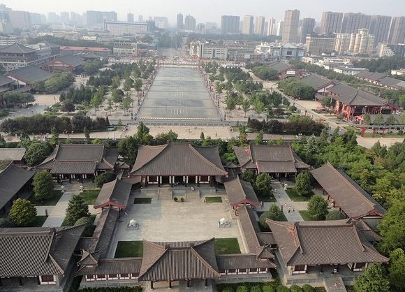 Looking North from Giant Wild Goose Pagoda, Xian, China