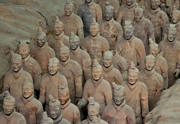 Visiting Terracotta Warriors, Terracotta Army Museum, Xian, China