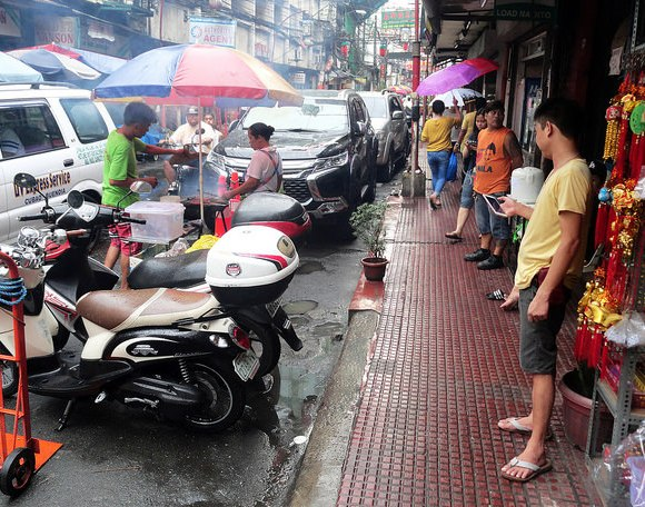 A Raining Afternoon in Chinatown, Binondo, Manila, Philippines