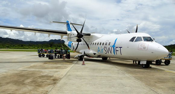 ATR 42 Air Swift at El Nido Airport, Palawan, Philippines