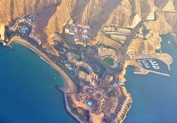 Aerial View of Shangri La Barr Al Jissah Resort & Spa, Muscat, Oman