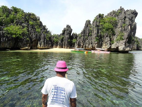 Approaching Minalahos Island, Caramoan Peninsula, Camarines Sur, Philippines