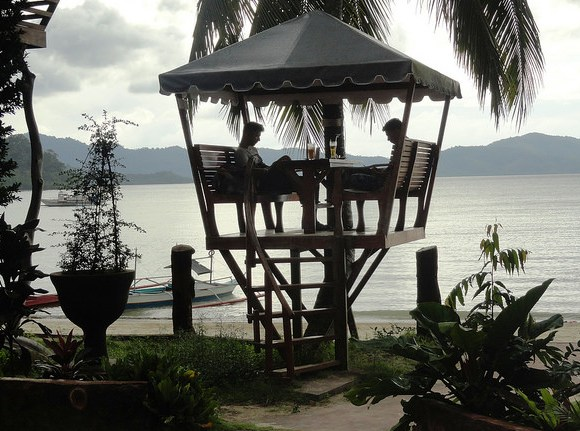 Beach Bar, Ausan Beach Front Cottage, Port Barton, Palawan, Philippines
