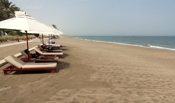 Beach, The Chedi Muscat, Oman