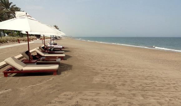 Beach, The Chedi Muscat, Oman