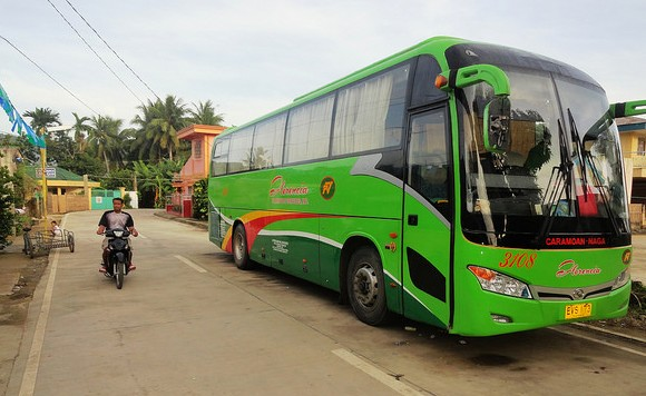 Bus Naga-Caramoan, Caramoan, Caramoan Peninsula, Camarines Sur, Philippines