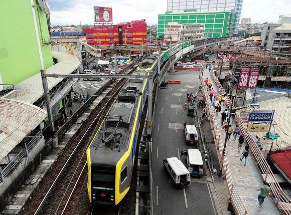 EDSA LRT 1 Station, Manila, Philippines