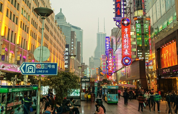 East Nanjing Road, the Pedestrian Shopping Street of Shanghai