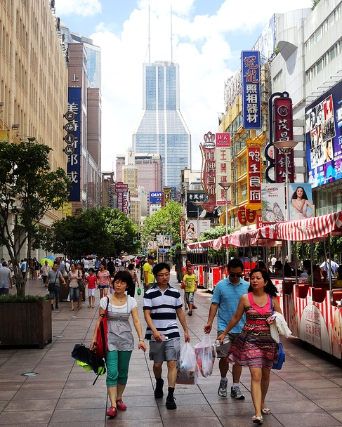 East Nanjing Road, the Pedestrian Street of Shanghai