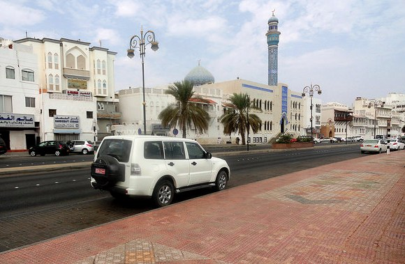 Easy parking at the Corniche, Muscat, Oman