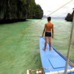 Exiting the channel of Big Lagoon of Miniloc, El Nido, Palawan, Philippines