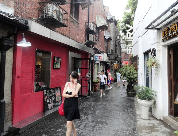 Girl Walking in Tanzifang, Taikang Road, Shanghai