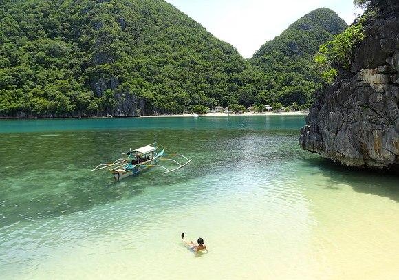 Hunongan Cove from Kagbalinad Island, Caramoan Peninsula, Camarines Sur, Philippines
