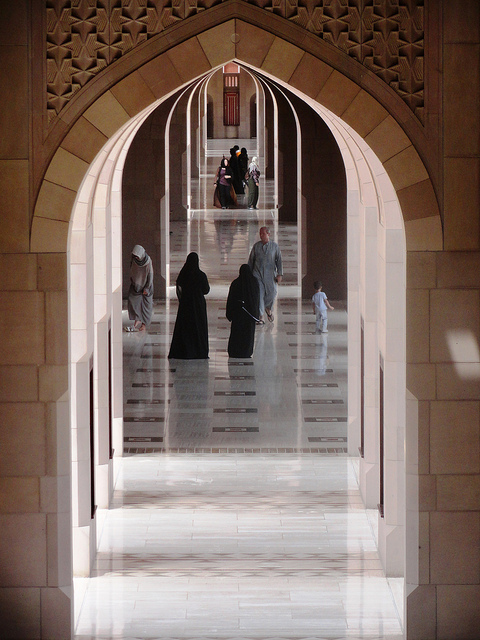 Inside Sultan Qaboos Grand Mosque Complex, Muscat, Oman
