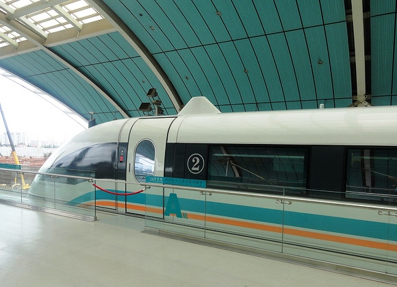 Maglev Train at Longyang Road Station, Shanghai