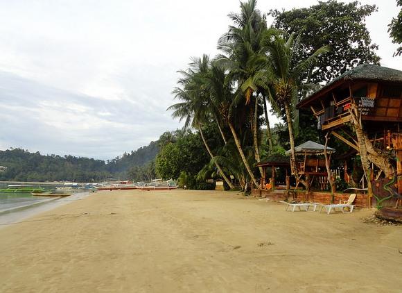 Main Beach in front of Ausan Beach, Port Barton, Palawan, Philippines