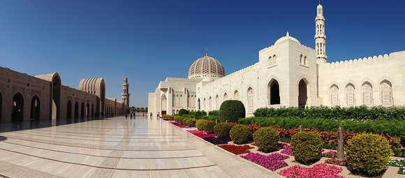 Nice View of Sultan Qaboos Grand Mosque, Muscat, Oman