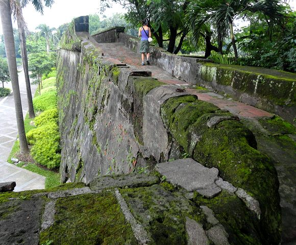 Ramparts along the Pasig River, Fort Santiago, Intramuros, Manila, Philippines