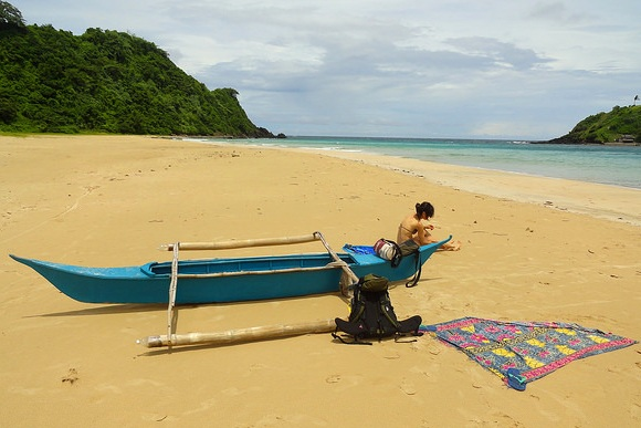 Relax at Nacpan Beach, El Nido, Palawan, Philippines