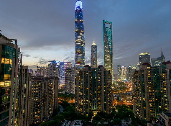 Shanghai Tower, Jin Mao Tower and World Financial Tower, Pudong, Shanghai