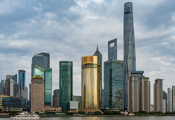 Skyscrapers of Pudong from The Bund, Shanghai