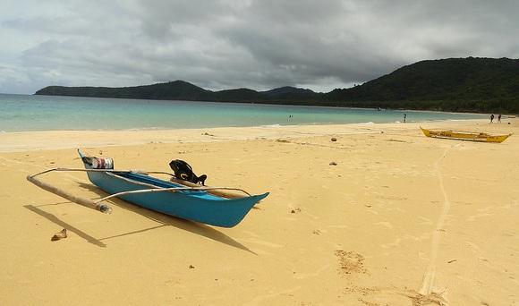 Storm approaching Nacpan Beach, El Nido, Palawan, Philippines