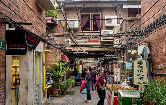 Street Scene, Tianzifang, Taikang Road, Shanghai